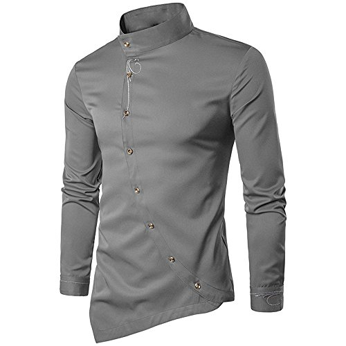 Men's Long Sleeve Shirt Casual, Casual Irregular Silm for sale  Delivered anywhere in Canada