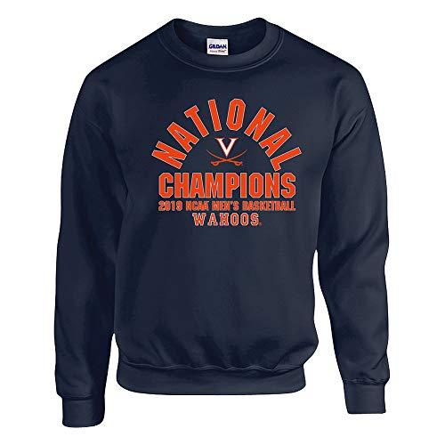 (Elite Fan Shop UVA Virginia Cavaliers National Basketball Championship Crewneck Sweatshirt 2019 Arch - XXL -)