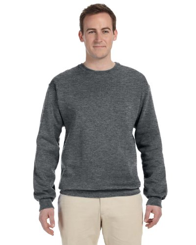 Fruit of the Loom 12 oz. Supercotton 70/30 Fleece Crew (82300)- ATHLETIC HEATHER,XL (Fruit Of The Loom Ribbed Sweatshirt)