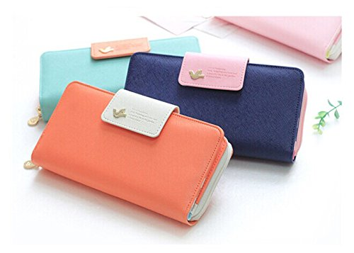 ArMordy(TM) Hot Explosion Models Women Wallet Coin Purse Female Purses Brand Women Clutch Large Capacity Phone Bag Snow
