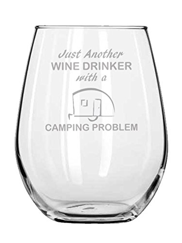 Gift for Camper - Just Another Wine Drinker With A Camping Problem - Whiskey - RV - Funny Gifts - Fishing - Outdoors - Desert - River
