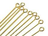 14K Gold Filled Eyepins, 1.5 Inch, 22 Gauge, Choose Package Size (100)