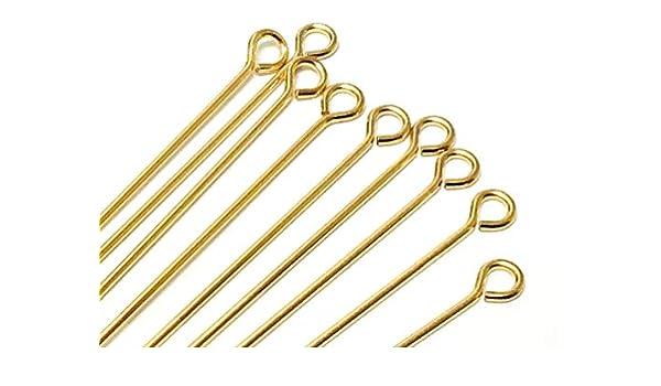 Choose Package Size 24 Gauge 25 14K Gold Filled Eyepin 1 Inch