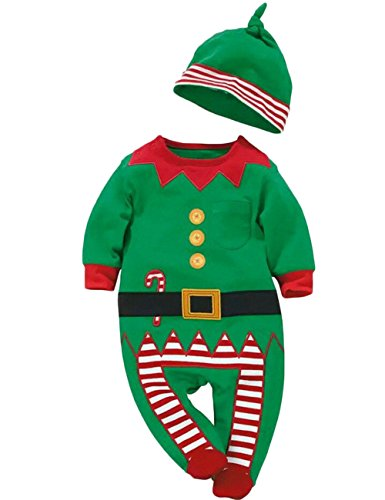 MowMee Christmas Sleeve Striped Romper product image