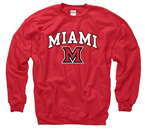 Miami Redhawks Arch & Logo Gameday Crewneck Sweatshirt - Red