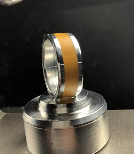 Billet Aluminum with Orange Glow Inlay ()