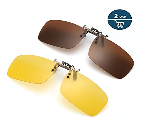b46d146d0ac0 Jual ELIVWR Clip on Sunglasses for Prescription Glasses