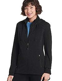 Jockey Women's Tops Hooded Zip Sweater Jacket