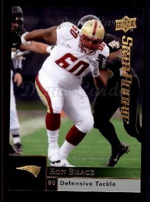 2009 Upper Deck # 220 Ron Brace New England Patriots (Football Card) Dean's Cards 8 - NM/MT ()