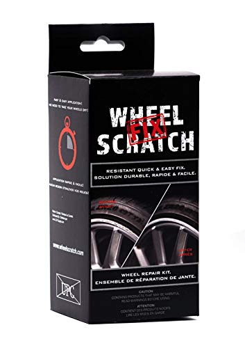 Wheel Scratch Fix Quick and Easy Wheel Touch Up Kit Universal Colors (Black (Satin))
