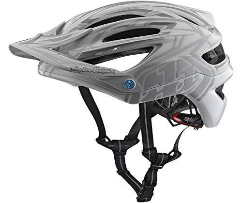 2018 Troy Lee Designs A2 MIPS Starburst Bicycle Helmet-Silver-XL/2XL
