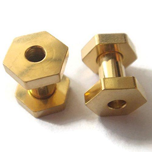 Pair 6g 6 Gauge 4mm Hexagon Lobe Screw Flesh Tunnels Ear Plugs Rings Earlets Tunnel Body Piercing -