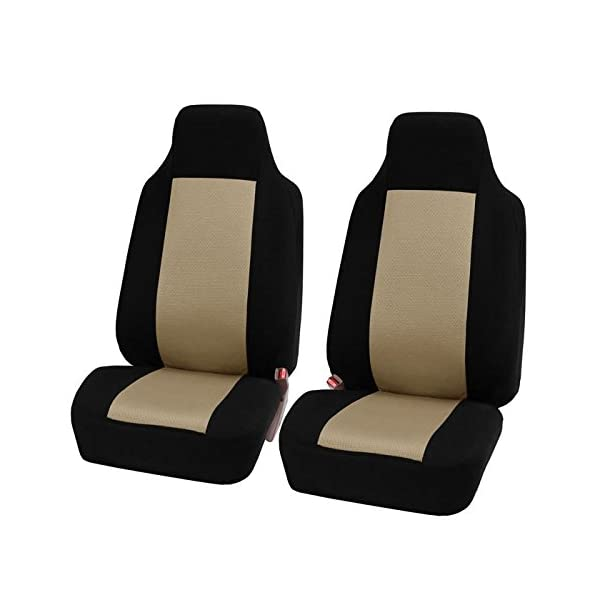 FH Group FB102114 Classic Cloth Seat Covers (Black) Full Set With Gift – Universal Fit For Cars Trucks & SUVs