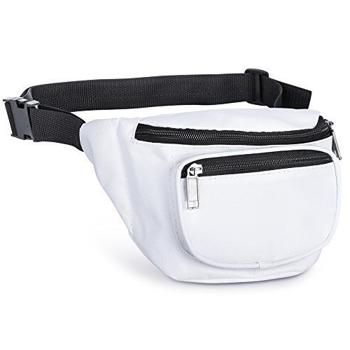Fanny Pack, AirBuyW 3 Zippered Compartments Adjustable Waist Sport Fanny Pack Bag ()