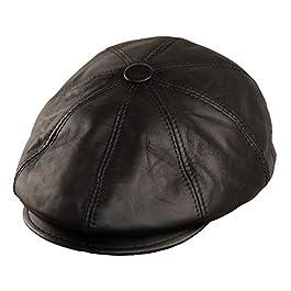 Dazoriginal Newsboy Hats for Men Baker boy Leather Hat Panel Cap Irish Flat Caps