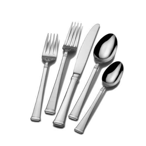 Mikasa 5100240 Harmony 45-Piece 18/10 Stainless Steel Flatware Set with Serving Utensil Set, Service for 8 -