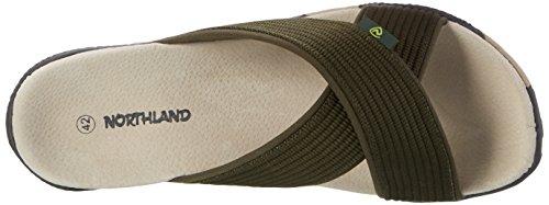 Northland Professional Herren Milo Leather Slipper Grün (Olive)