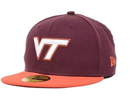 2 Tone 59fifty Cap (Virginia Tech Hokies NCAA New Era Youth 2 Tone 59FIFTY Fitted Maroon/Orange Hat Cap (6 1/2))