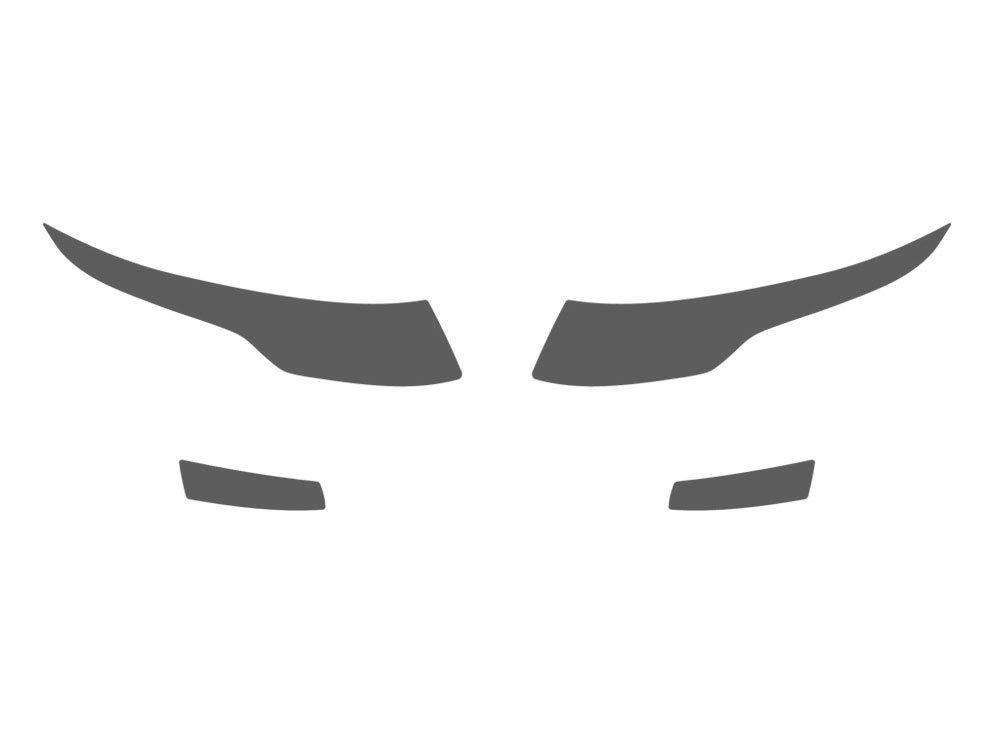 Rvinyl Rtint Headlight Tint Covers for Land Rover Range Rover Evoque 2012-2015 Application Kit