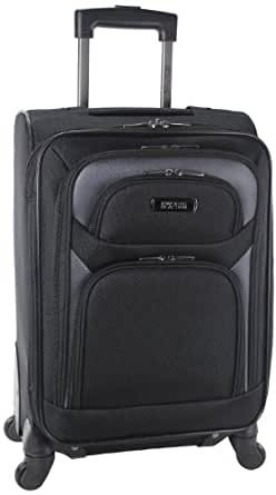 Kenneth Cole Reaction Journey To The Past Four Wheel Expandable Upright Carry On, Black, One Size