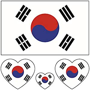 World Cup 2018 Top 32 Nations Small Body Face Sticker Nation Flag Temporary Tattoo Stickers korea