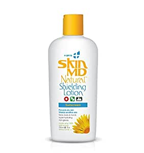 Skin MD Natural Shielding Lotion for Face, Body & Hands 8oz + SPF 15 - Helps with Eczema & Psoriasis! The natural dry skin remedy to the things that dry your skin