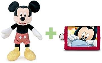 DISNEY: Peluche SPARKLE Mickey Mouse 30 cm sentado y 45 cm de pie. +