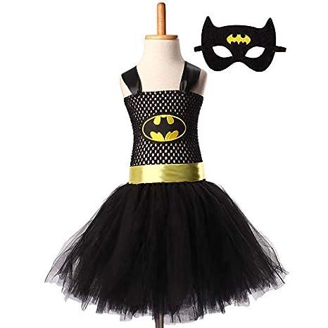 Hiswill Superman Batman niñas Tutu Vestido con Mascara Super héroe inspira bebé Traje C: Amazon.es: Productos para mascotas