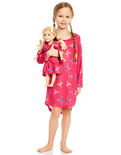 Leveret Ballerina Matching Doll & Girl Nightgown 10 Years