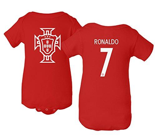 Tcamp Portugal 2018 National Soccer #7 Cristiano Ronaldo World Championship Little Infant Baby Short Sleeve Bodysuit