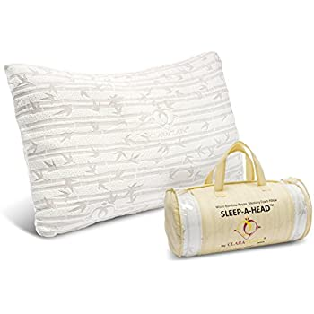 Clara Clark Shredded Memory Foam Pillow with a Luxury Designed Rayon Made from Satins Cover, King