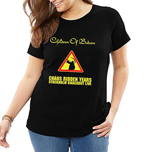SY COMPACT Women Children of Bodom Chaos Ridden Years - Stockholm Knockout Live Short Sleeve Tops Tees Plus Size Black (Best Place To Live In Stockholm)