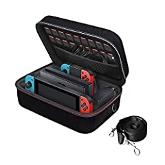 Features: 1. Excellent protection - case is made of sturdy and durable materials2. Large Storage-A large zippered mesh pocket provides secure storage room for some small Nintendo accessories like charging cable, slim power bank, ear buds, and...