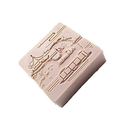 Amazon.com: Molde de jabón manual de silicona, molde de ...