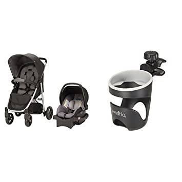Evenflo Flipside Travel System Glenbarr Gray With Universal Cup Holder