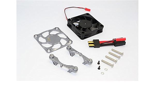 Traxxas Maxx 2400kv Motor Aluminum Heatsink /& Cooling Fan Shroud NEW