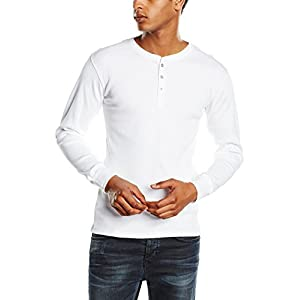 Levi's Men's 300Ls Long Sleeve Henley – White, Medium