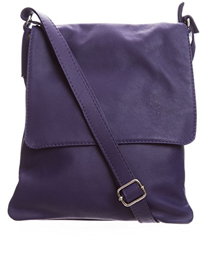 Big Handbag Shop - Borsa a tracolla donna (Medium Purple (BG593))