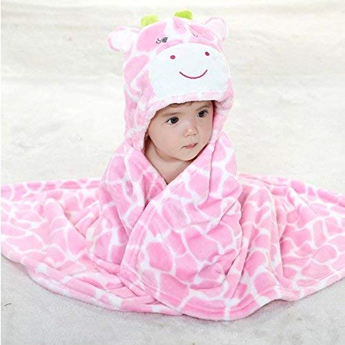 EONLYX Baby Bath Bathrobe, Soft Animal Hooded Blanket Baby Bath Hooded for Baby Boys & Girls, 0-7 Years Old 0-7 Years Old (Coffee)