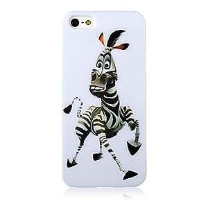 Modelo de la cebra Caso suave de silicona para el iPhone 4/4S