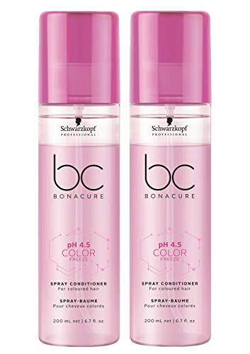 2er Schwarzkopf Professional Bonacure pH 4.5 Color Freeze Spray Conditioner 200 ml