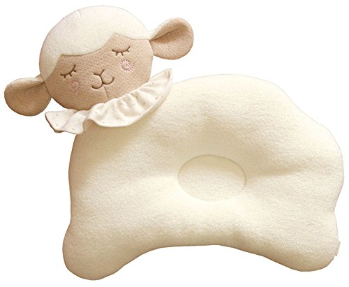 Learn More About (Baby Lamb) Organic Cotton Baby Protective Sleeping Pillow.From Newborn Prevent fro...