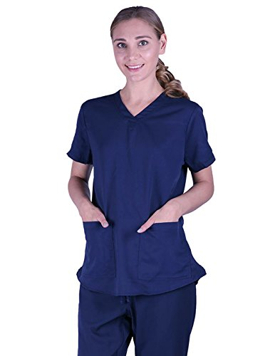 Doctor Patient Costumes (HDE Women's Doctor Halloween Costume ER Medical Uniform Scrub Top and Bottom)