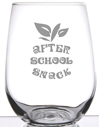 Stemless Wine Glass - Gift After School Snack - Unique Gift For Teacher