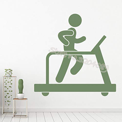 Etiqueta de la pared Gimnasio Fitness cinta de correr ejercicio ...