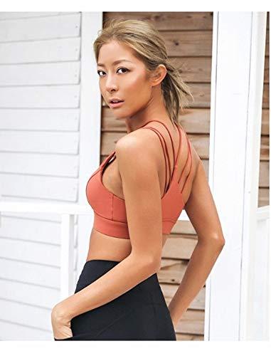 Jswygl Gym Xl Stra Curve Yoga Running Donna Sportivo Reggiseno M Fitness Shoulder BABn6TRf