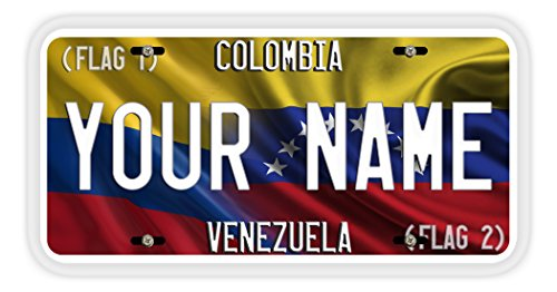 BleuReign(TM) Personalized Custom Name Create Your Own Mixed Flag Car Vehicle License Plate Auto Tag