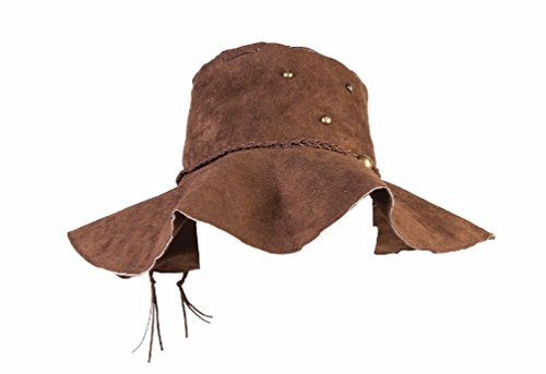 Groovy Hippie Floppy Adult Hat Brown Faux Suede Men Women Cap Costume Accessory