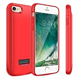 Kunter Battery Case for iPhone 6/6s, 4000mAh Portable Charger Case, Rechargeable Extended Battery Charging Case for iPhone 6/6s(4.7inch)-Red