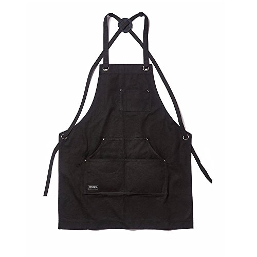 Dadidyc Tool Apron with Pockets Adjustable Heavy Duty Waxed Canvas Shop Apron Work Apron Fits Men and Women by Dadidyc (Image #1)